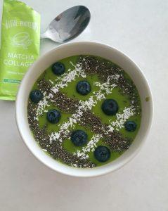 Matcha collagen smoothie bowl