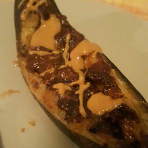 Peanut butter banana boat