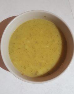 Zucchini miso soup