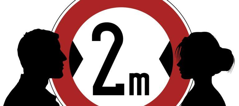 2 meters apart