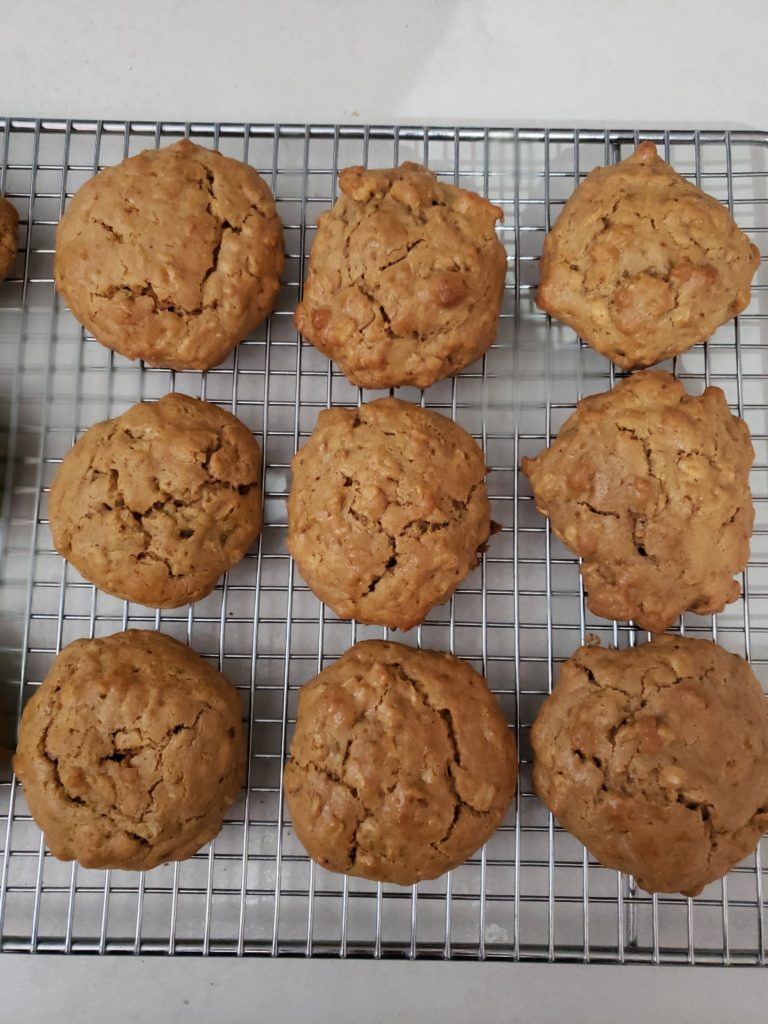 Freshly Baked PB Tahini cookies
