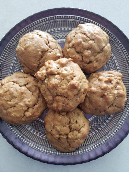 PB Tahini oatmeal cookies