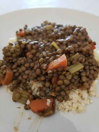 French lentil daal